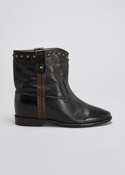 Cluster Leather Western Booties