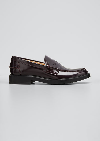 Patent Flat Penny Loafers