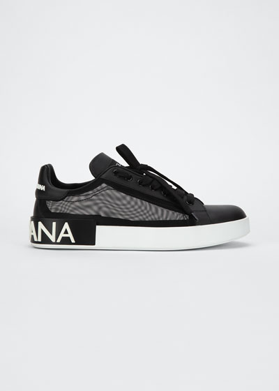 Classic Leather/Mesh Low-Top Sneakers
