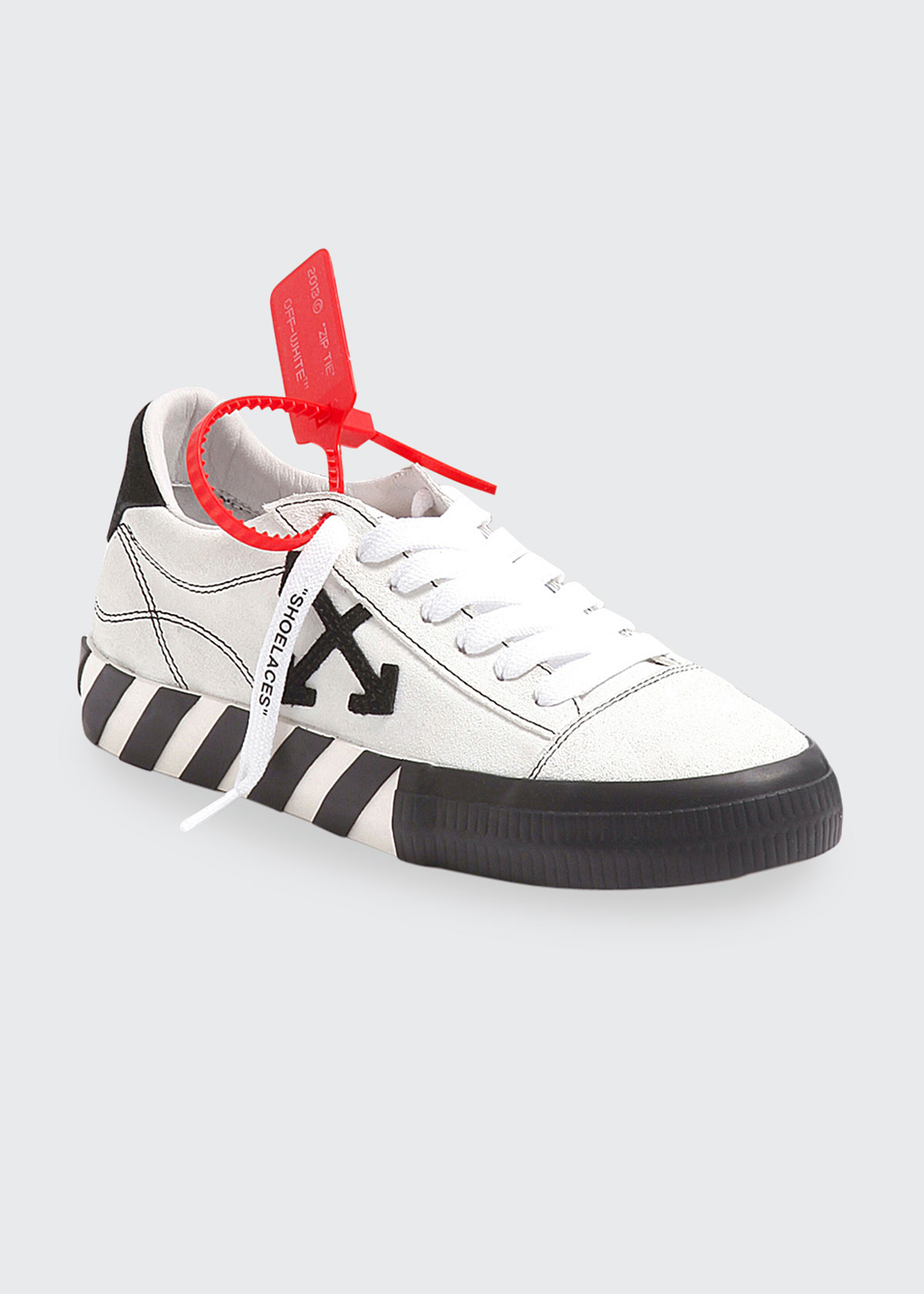Off-White VULCANIZED NEW ARROW LEATHER STRIPE SNEAKERS