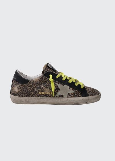 Superstar Leopard-Print Suede Court Sneakers