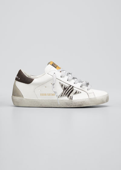 Superstar Zebra Suede Low-Top Sneakers