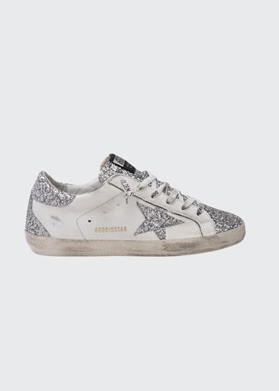 Superstar Glitter Low-Top Court Sneakers