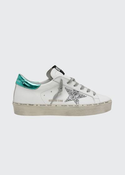 Hi Star Leather Script Platform Sneakers