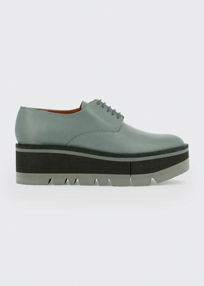 Bradie Lug-Sole Platform Derby Loafers