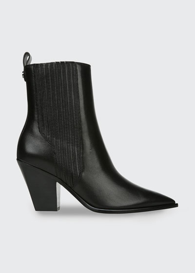 Sanai 75mm Leather Ankle Booties