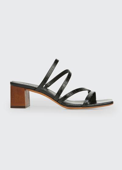 50mm Elita Strappy Slide Sandals