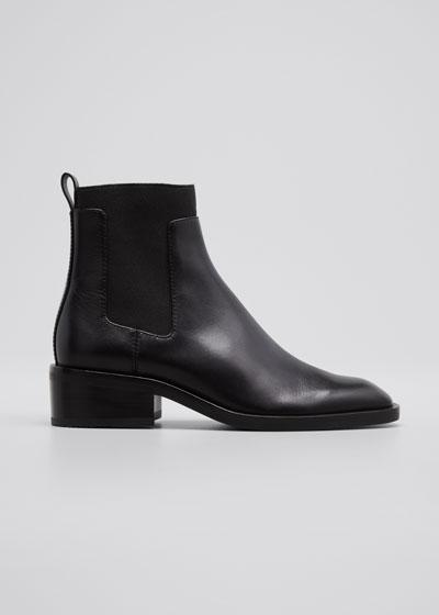 Alexa Leather Chelsea Booties