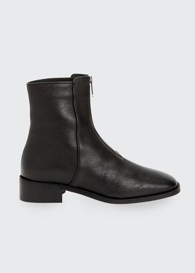 Tenley Zip-Front Ankle Booties