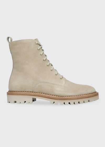 Cabria Suede Combat Boots