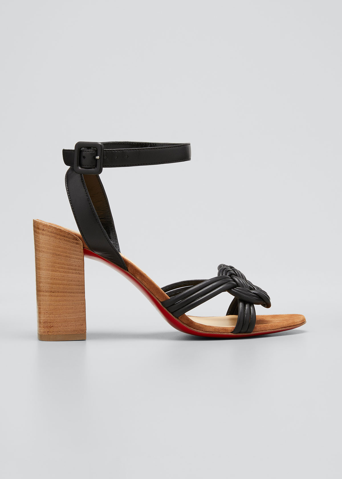 Christian Louboutin ELLA 85MM KNOT RED SOLE SANDALS