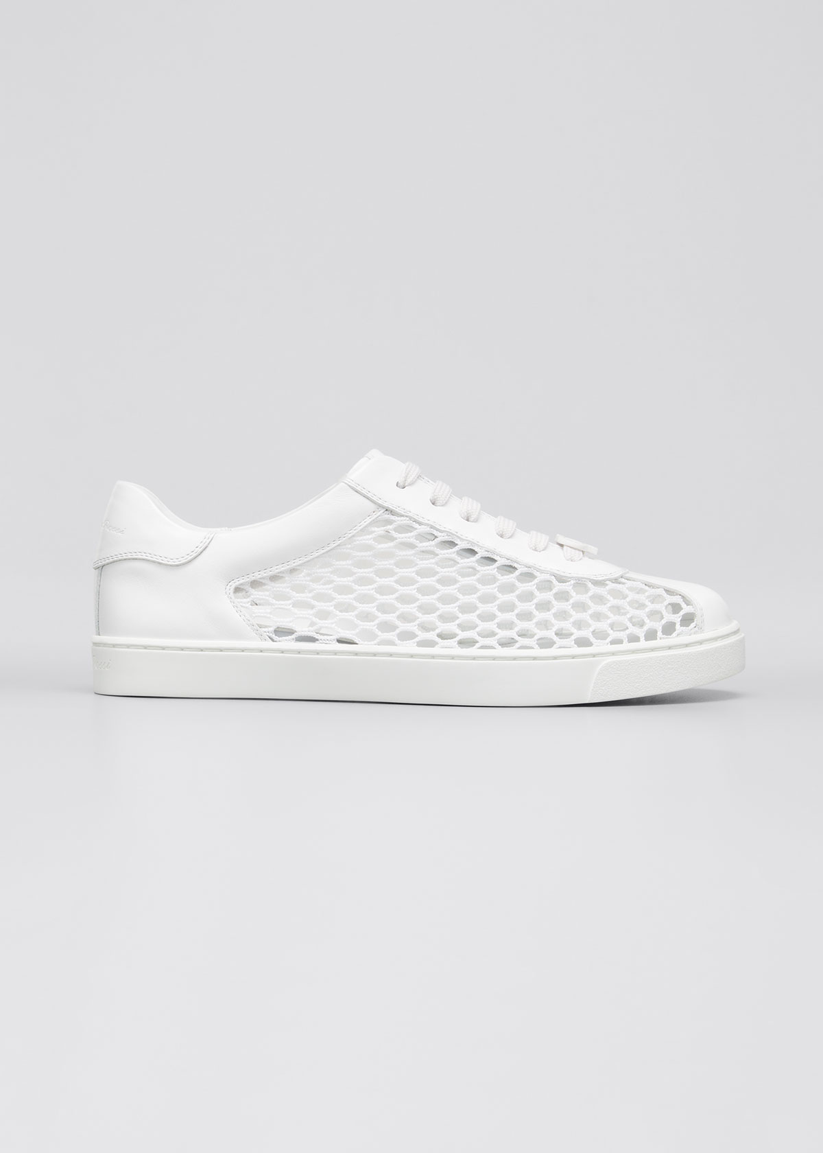 Gianvito Rossi Leathers MESH NET LOW-TOP SNEAKERS