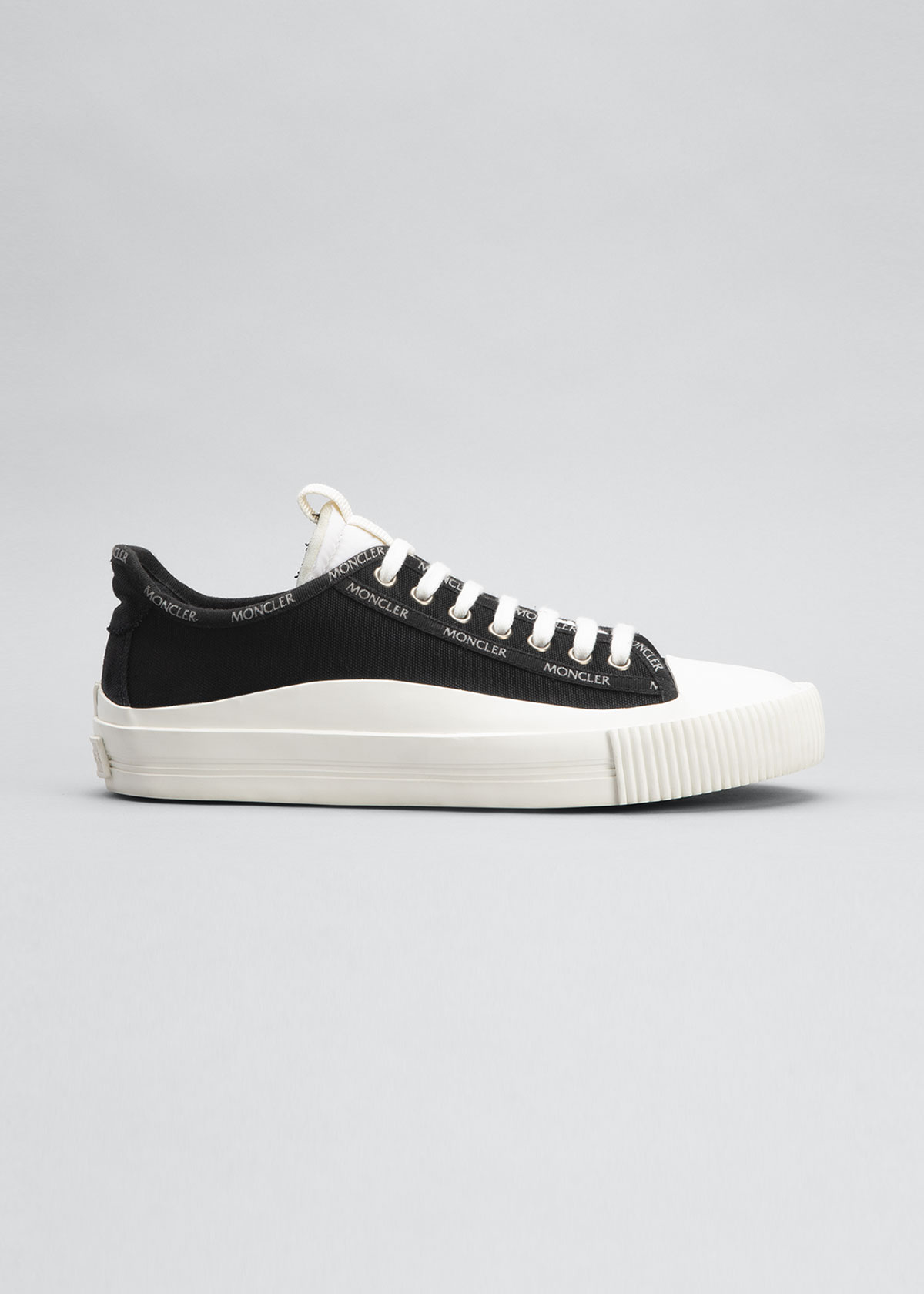 Moncler Canvases GLISSERIE LOGO CANVAS LOW-TOP SNEAKERS