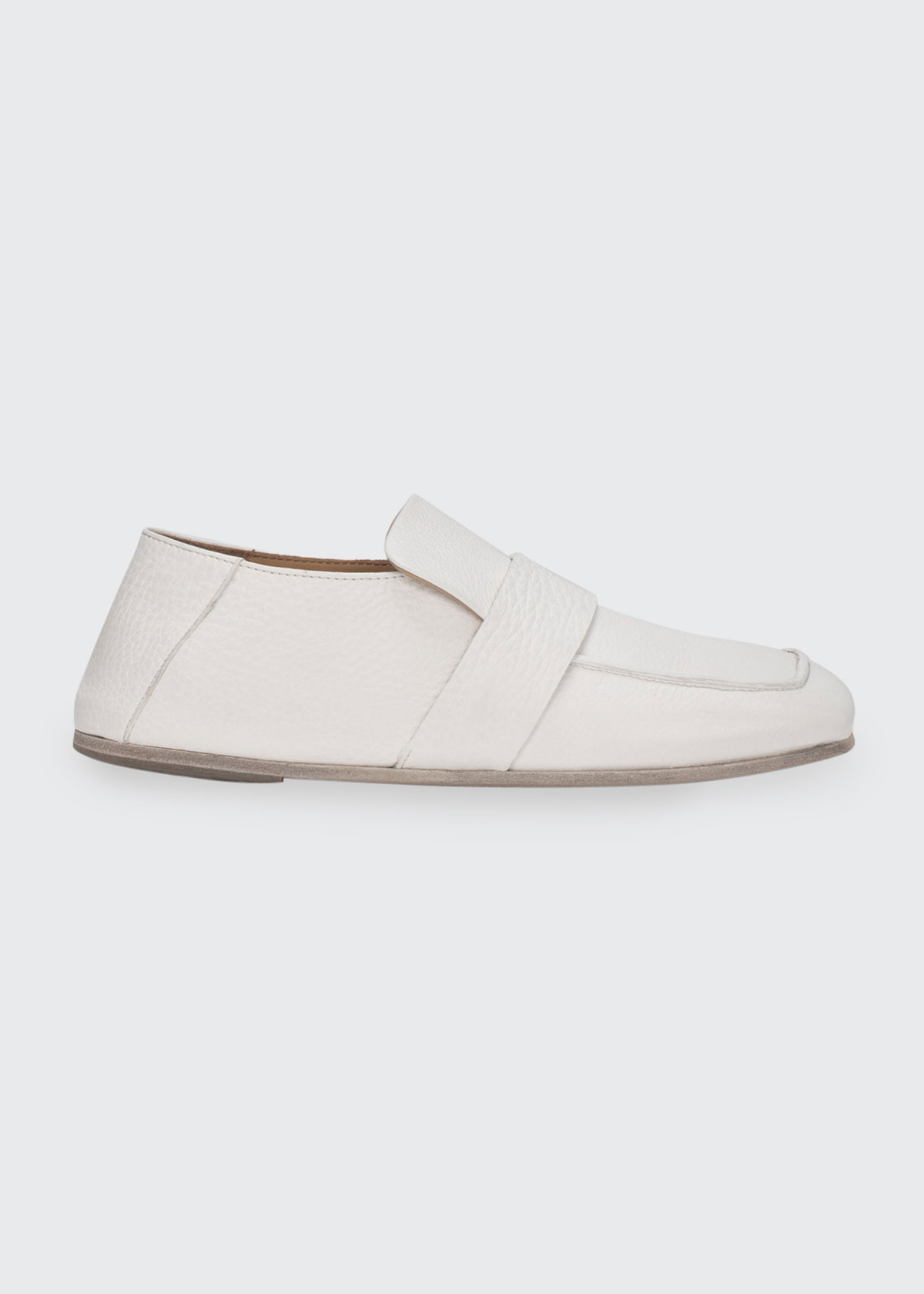 Marsèll SQUARE-TOE LEATHER LOAFERS
