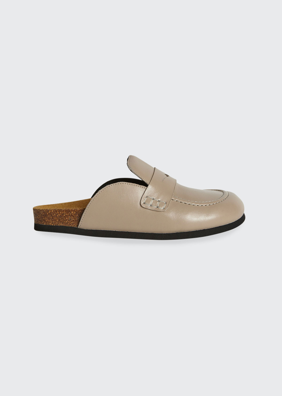 Jw Anderson LEATHER PENNY LOAFER MULES