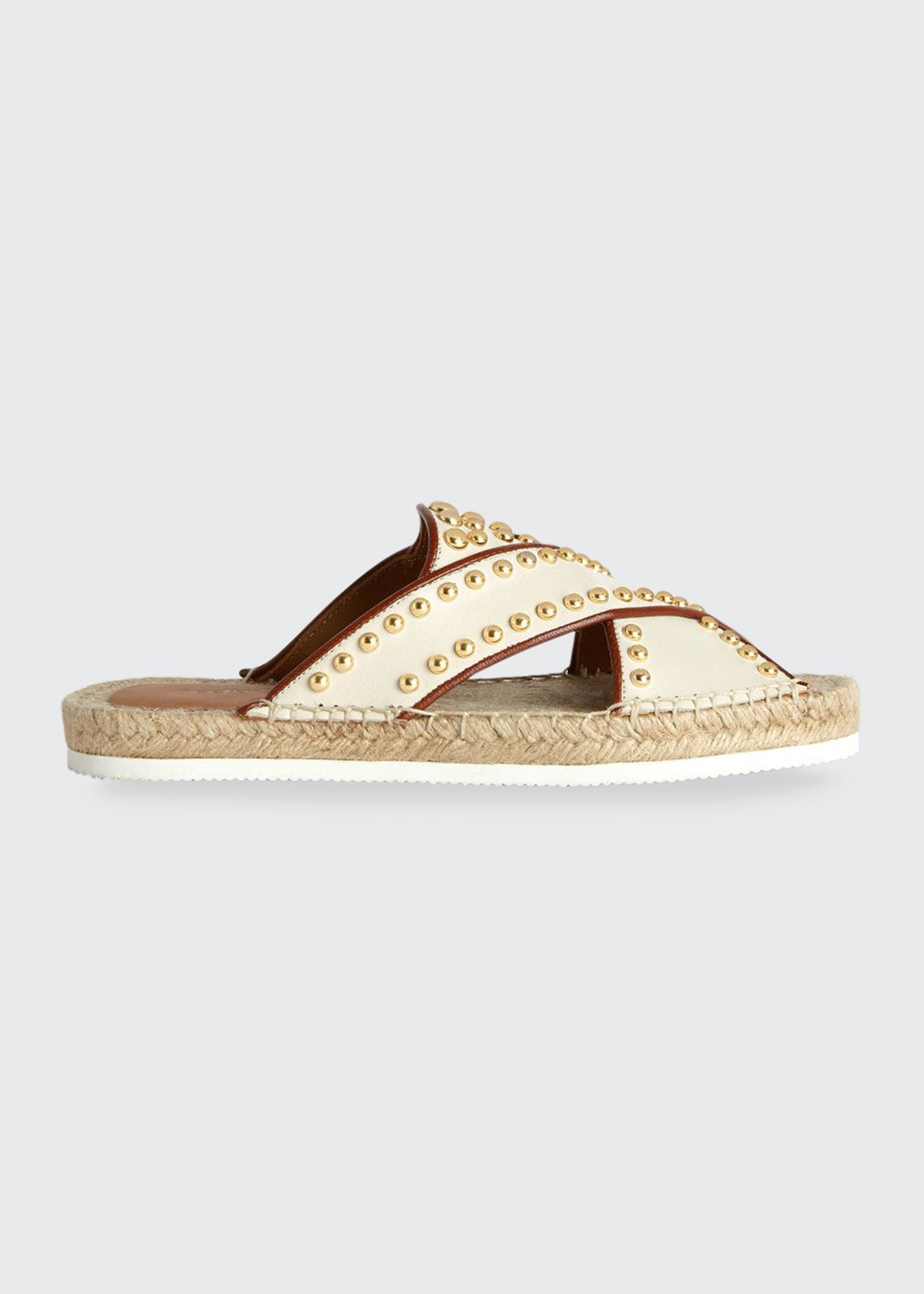 See By Chloé PIA STUDDED SLIDE ESPADRILLE SANDALS