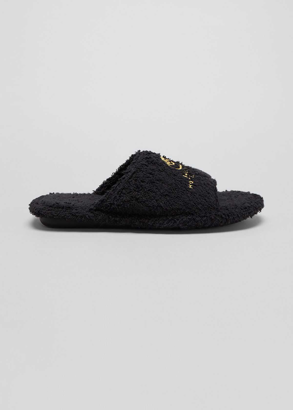 Balenciaga Slippers HOME FURRY LOGO SLIPPERS