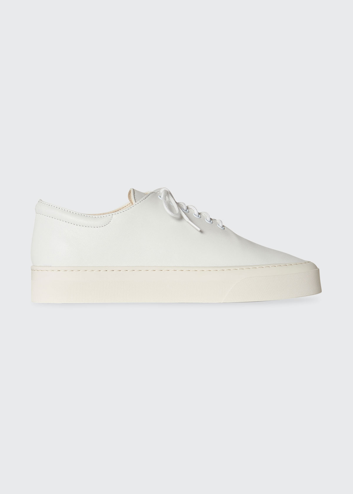 The Row Leathers MARIE LEATHER LOW-TOP SNEAKERS
