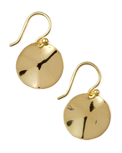 Wavy Disc Earrings