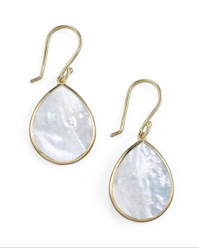 Small Teardrop Earrings, Mother-of-Pearl