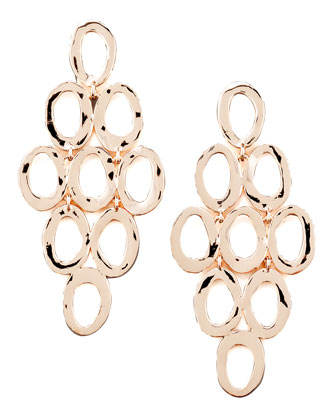 Open Oval Cascade Earrings