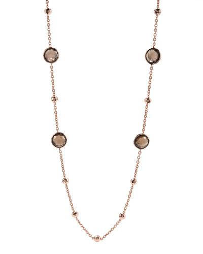 Rose Mini Lollipop Quartz Necklace, 37