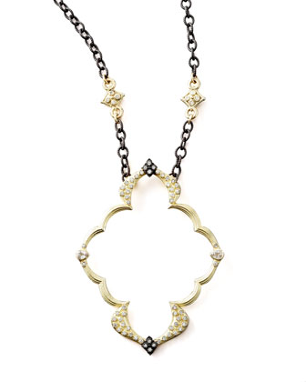 Open-Frame Pendant Necklace