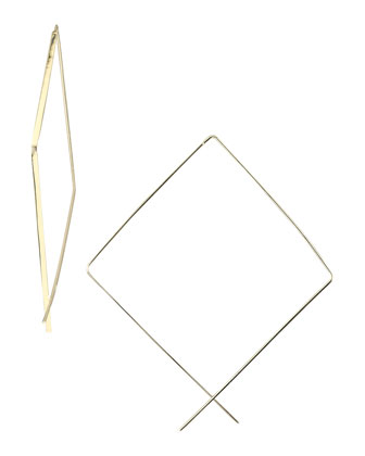 Upside-Down Hoop Earrings, Medium