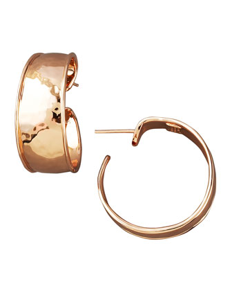 Goddess Hoop Earrings, Rose Gold
