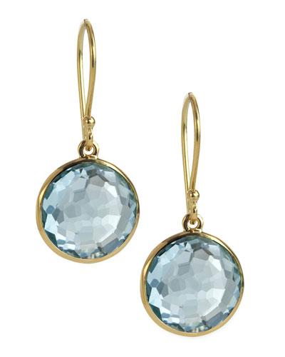 Mini Lollipop Earrings, Blue Topaz