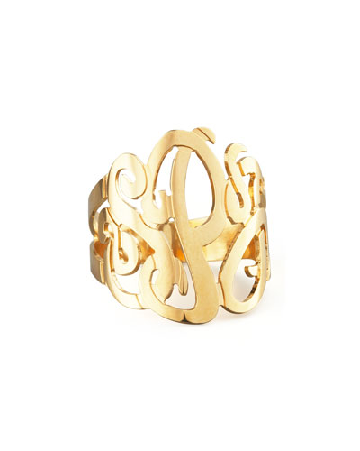 Three-Initial Monogram Ring