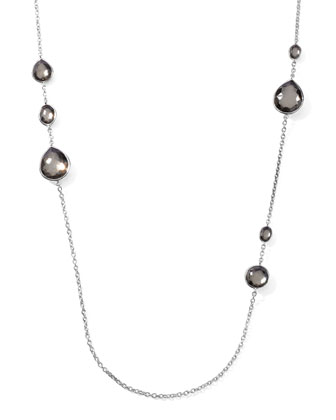Pyrite Station Necklace, 32