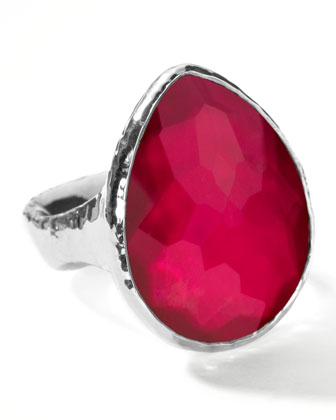 Raspberry Teardrop Ring