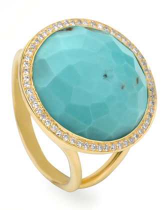 Ippolita Turquoise Lollipop Cocktail Ring from the Rock Candy Collection