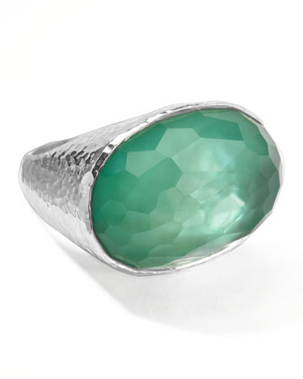 Wonderland Oval Ring, Mint