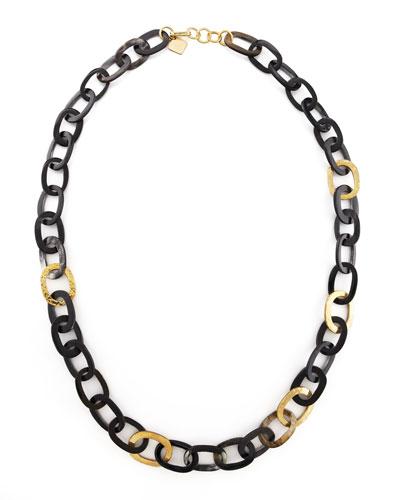 Bronze & Horn Link Mara Necklace
