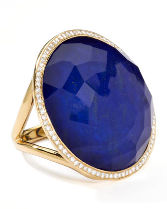 Rock Candy Large Lollipop Diamond Lapis Ring