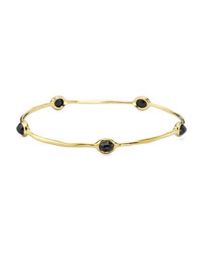 18K Gold Rock Candy 5-Stone Lollipop Bangle in Black Onyx