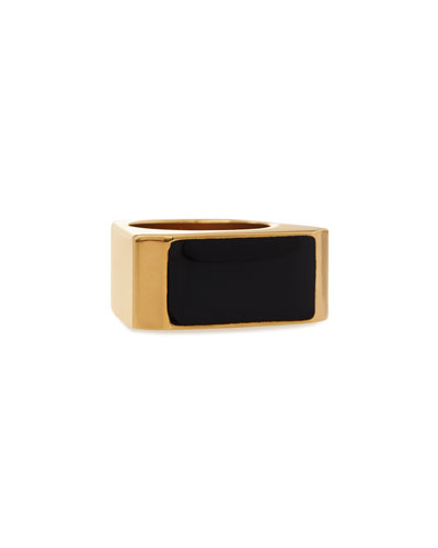 Black/Golden Colorblock Ring