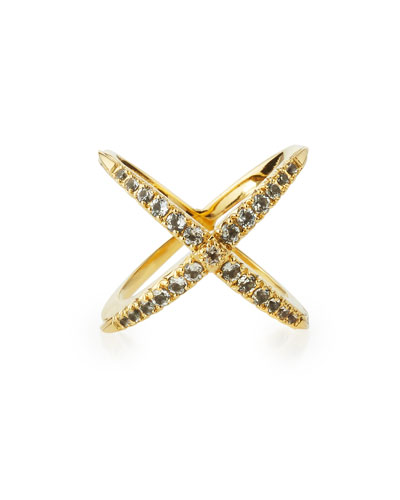 Windrose Pave White Topaz Ring