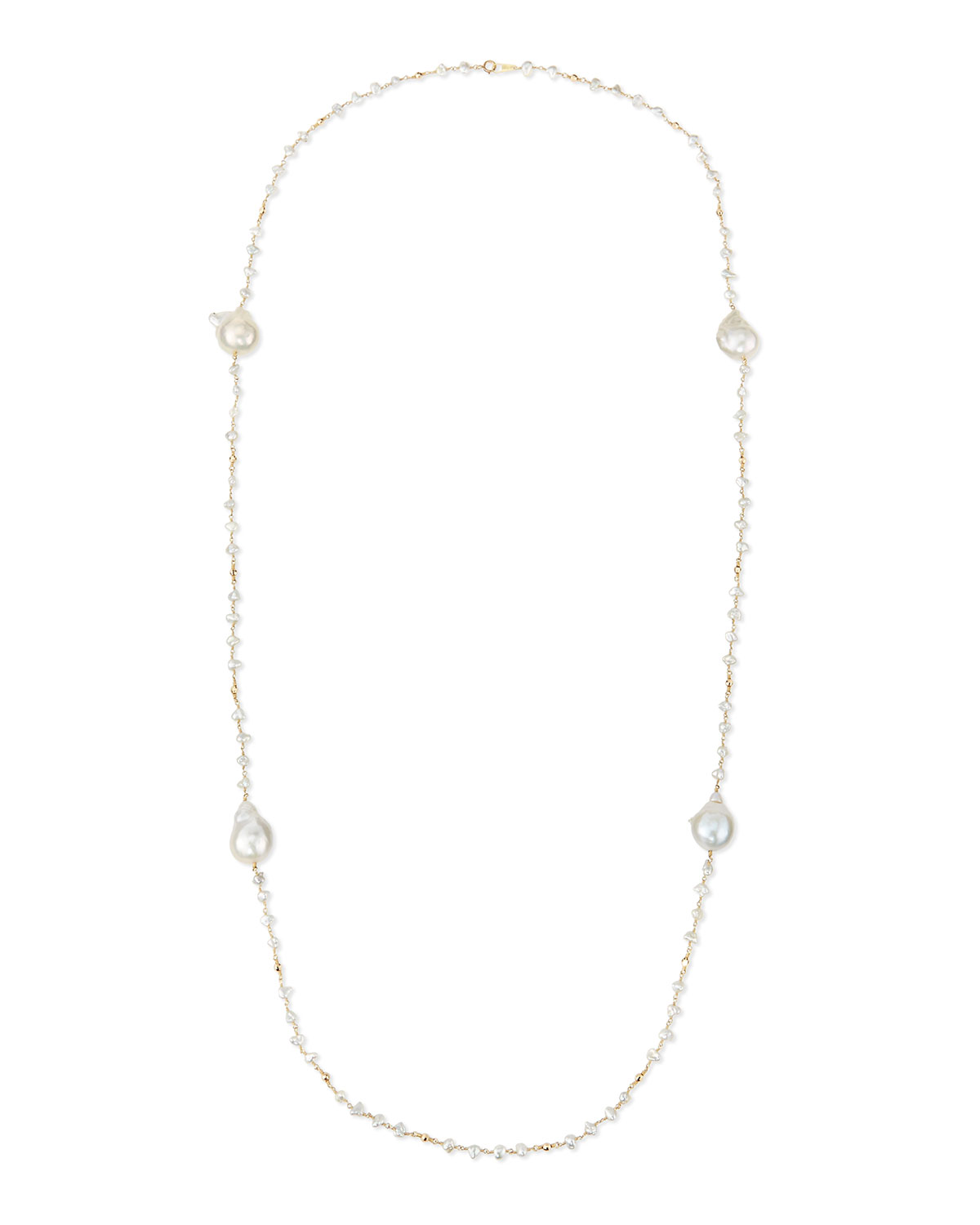 Keshi Pearl Necklace, 42