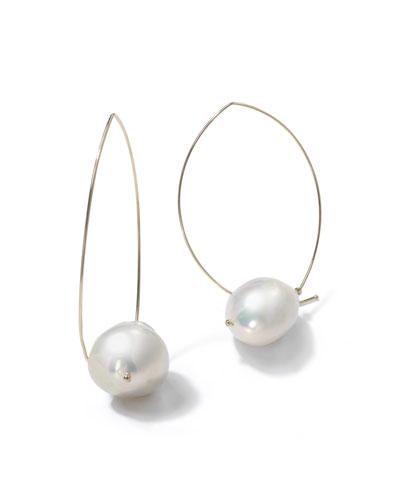 14k Gold Freshwater Pearl Earrings