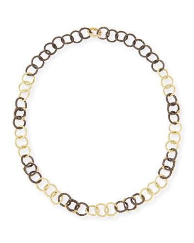 Midnight & Yellow Gold Diamond Link Necklace