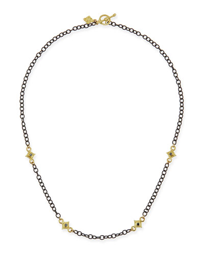 Heraldry Cable Chain Cross Necklace, 16