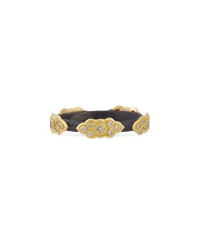 Armenta Stackable Champagne Diamond Scroll Ring