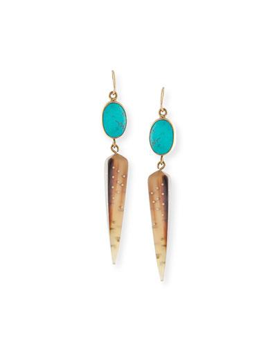 Ndani Light Horn Spike Earrings