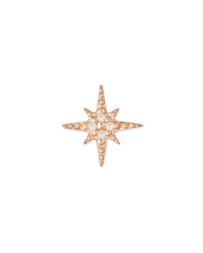 Starburst Diamond Single Stud Earring