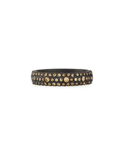 Old World Champagne Diamond Stackable Eternity Ring