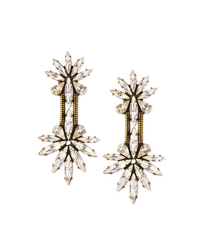 Devon Crystal Chain Drop Earrings