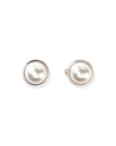 Medium Pearl Stud Earrings